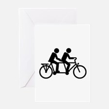 Tandem Bicycle bike Greeting Card