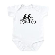 Tandem Bicycle bike Infant Bodysuit