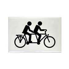 Tandem Bicycle bike Rectangle Magnet