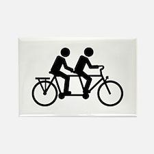 Tandem Bicycle bike Rectangle Magnet (100 pack)