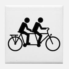 Tandem Bicycle bike Tile Coaster