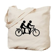 Tandem Bicycle bike Tote Bag