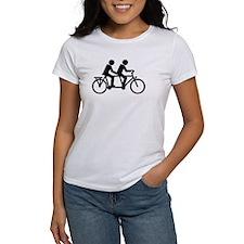 Tandem Bicycle bike Tee