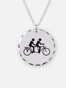 Tandem Bicycle bike Necklace