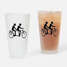 Tandem Bicycle bike Drinking Glass
