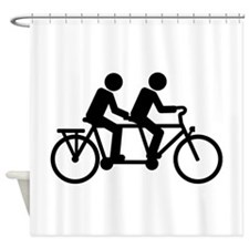 Tandem Bicycle bike Shower Curtain