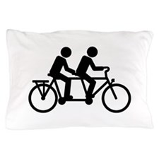 Tandem Bicycle bike Pillow Case