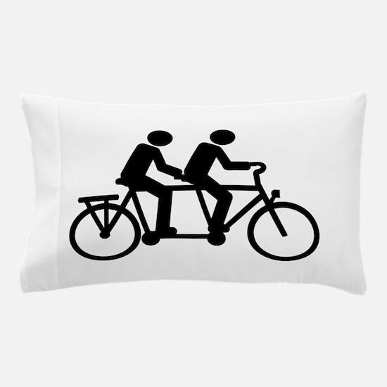 Tandem Bicycle bike Pillow Case