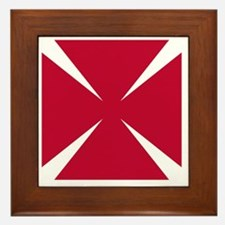 Cross Formee Pattee - Red Framed Tile