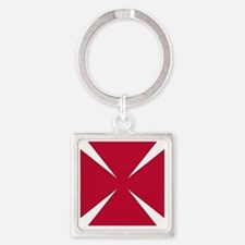 Cross Formee Pattee - Red Square Keychain