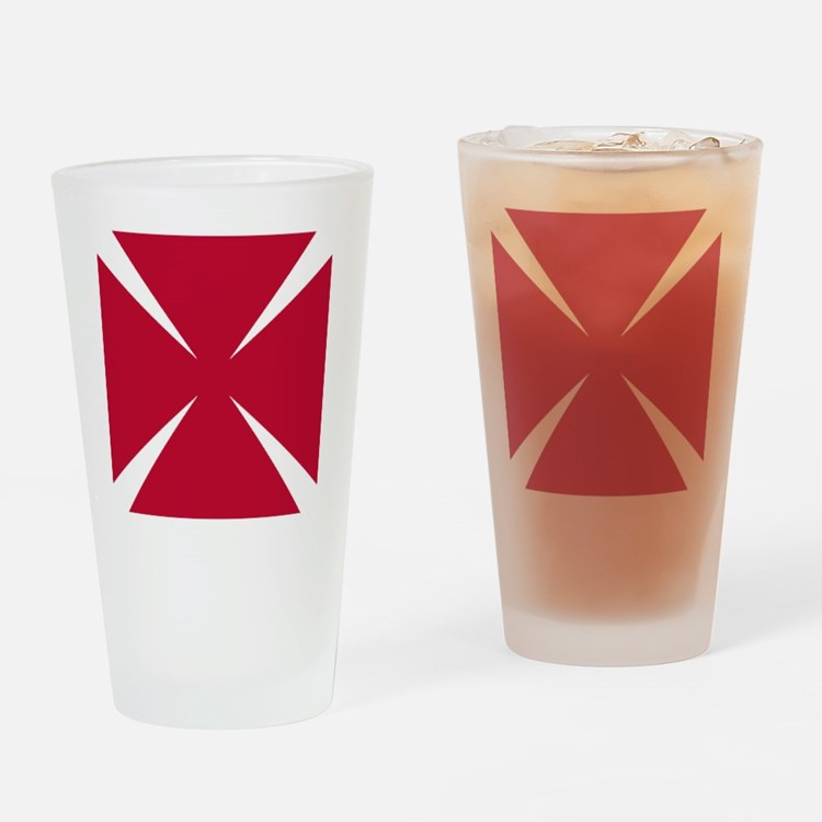 Cross Formee Pattee - Red Drinking Glass