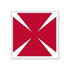 "Cross Formee Pattee - Red Square Sticker 3"" x 3"""
