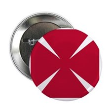 "Cross Formee Pattee - Red 2.25"" Button"