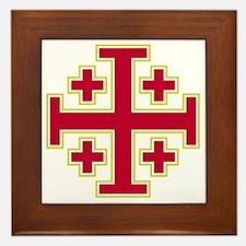 Cross Potent - Jerusalem - Red-2 Framed Tile