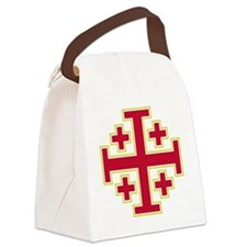 Cross Potent - Jerusalem - Red-2 Canvas Lunch Bag