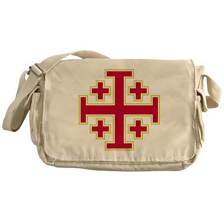 Cross Potent - Jerusalem - Red-2 Messenger Bag