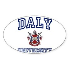 DALY University Oval Decal