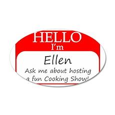 Ellen 35x21 Oval Wall Decal