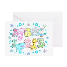 A B C  1 2 3 copy Greeting Card