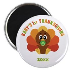 Personalize Babys First Thanksgiving Magnet
