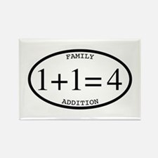 Family Addition Oval 4 Rectangle Magnet