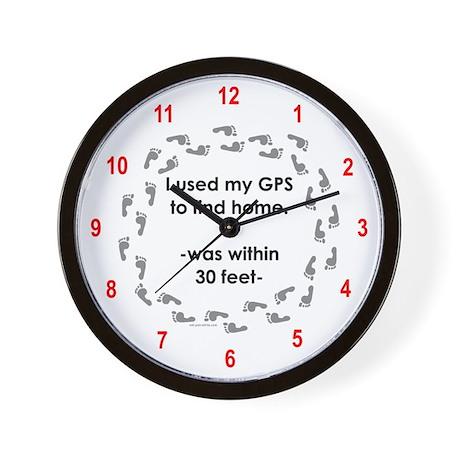 Geocacher Going Home Wall Clock