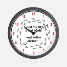 Geocacher Going Home Wall Clock