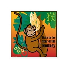 "MonkeyTshirt Square Sticker 3"" x 3"""