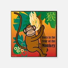 """MonkeyTshirt Square Sticker 3"""" x 3"""""""