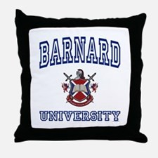 BARNARD University Throw Pillow