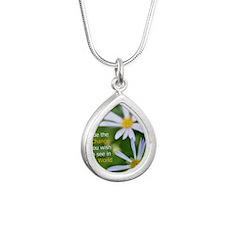 slidercase Silver Teardrop Necklace