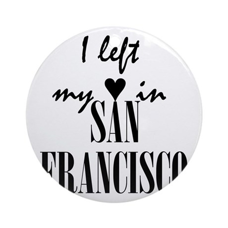 SF_10x10_apparel_LeftHeart_Black Round Ornament