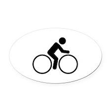 Cycling bike Oval Car Magnet