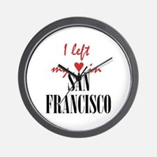 SF_10x10_apparel_LeftHeart_BlackRed Wall Clock