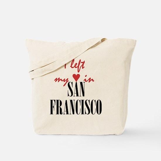 SF_10x10_apparel_LeftHeart_BlackRed Tote Bag