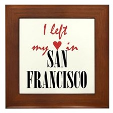 SF_10x10_apparel_LeftHeart_BlackRed Framed Tile