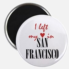 SF_10x10_apparel_LeftHeart_BlackRed Magnet