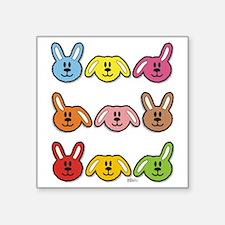 """rabbits maya - bib Square Sticker 3"""" x 3"""""""