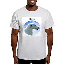 Borzoi Clouds Ash Grey T-Shirt
