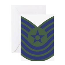 USAF-MSgt-Old-Green Greeting Card