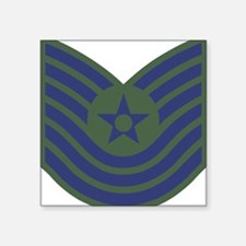 "USAF-MSgt-Old-Green Square Sticker 3"" x 3"""