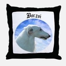 Borzoi Clouds Throw Pillow
