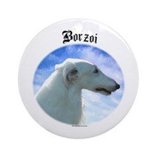 Borzoi Clouds Ornament (Round)