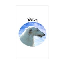 Borzoi Clouds Rectangle Decal
