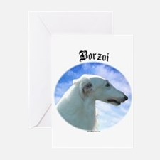Borzoi Clouds Greeting Cards (Pk of 10)