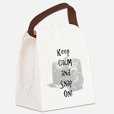 staycalmandsnapon Canvas Lunch Bag
