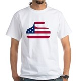 Curlingwen Mens White T-shirts