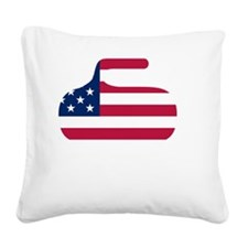 curlingWen Square Canvas Pillow