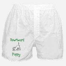 downward puppy Boxer Shorts