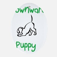 downward puppy Oval Ornament